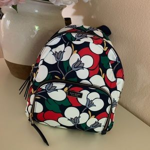 Kate Spade Dawn Breezy Floral Backpack Nwt $249